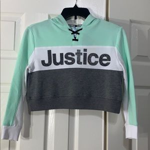 🆕 Justice Girls Swearshirt with Hoodie - 8